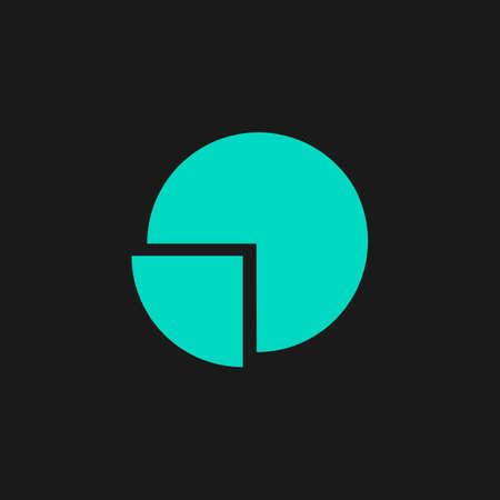 Cirkeldiagram. Flat eenvoudige moderne illustratie pictogram. Collection-concept symbool voor infographic project