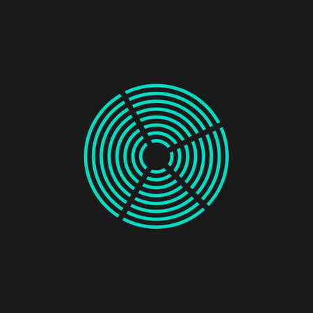 crop circle: Crop Circle. Flat simple modern illustration pictogram. Collection concept symbol for infographic project