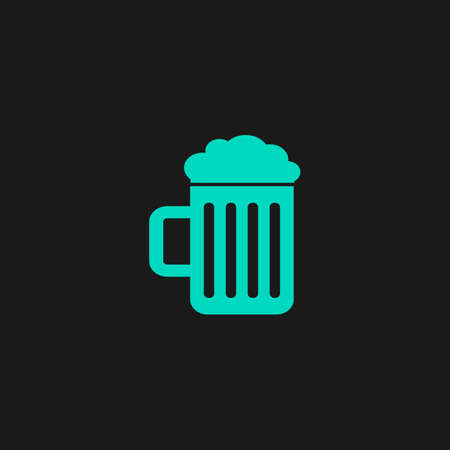 beer icon: Simple Beer mug. Flat simple modern illustration pictogram. Collection concept symbol for infographic project Illustration
