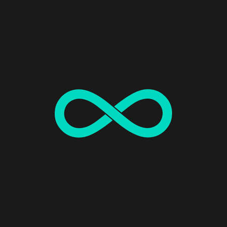 Infinity. Flat simple modern illustration pictogram. Collection concept symbol for infographic project