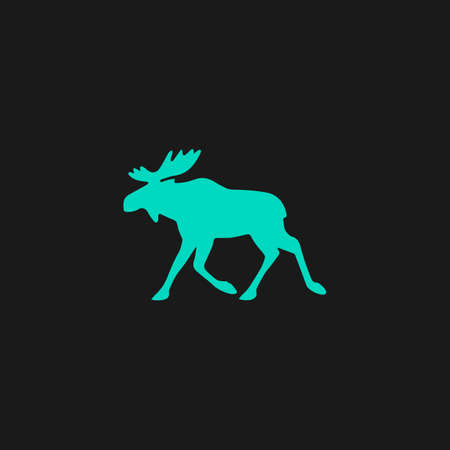 moose symbol: Moose. Flat simple modern illustration pictogram. Collection concept symbol for infographic project Illustration