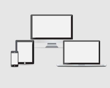 electronic devices: Ultimate web design electronic devices vector EPS10
