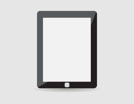palmtop: Realistic tablet pc computer with blank screen isolated on white background. Vector eps10 illustration Illustration
