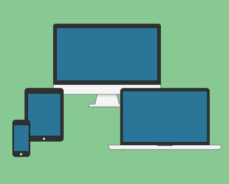 electronic device: Electronic Device Flat Icons. eps 10 vector iilustration
