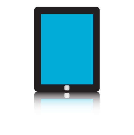 multitouch: Tablet pc isolated on white background. Vector illustration. Illustration