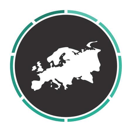 eurasia: Eurasia Simple flat white vector pictogram on black circle. Illustration icon Illustration