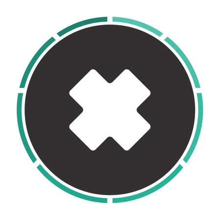 rejected: rejected Simple flat white vector pictogram on black circle. Illustration icon