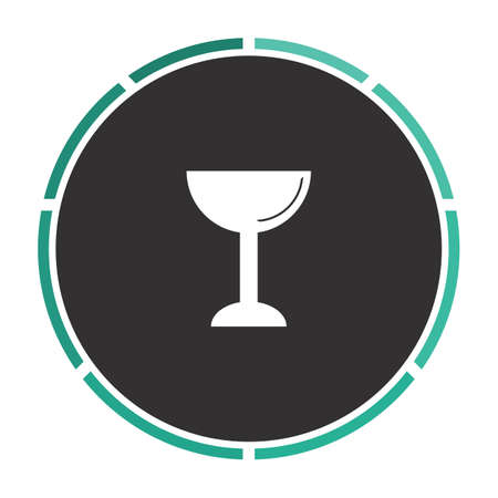chalice: chalice Simple flat white vector pictogram on black circle. Illustration icon
