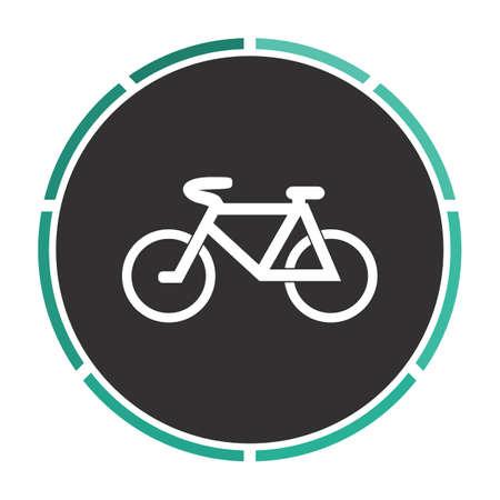 Mountain bike Simple flat white vector pictogram on black circle. Illustration icon Illustration
