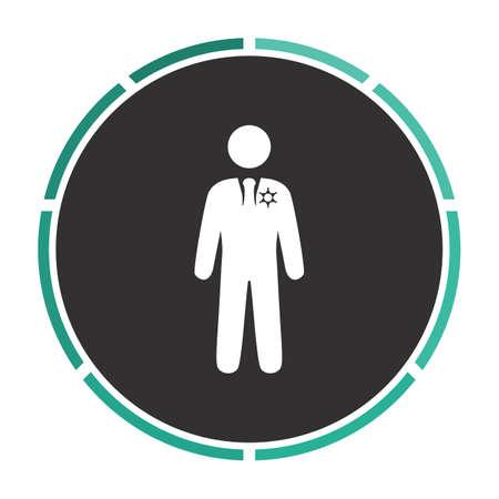 ranger: ranger Simple flat white vector pictogram on black circle. Illustration icon