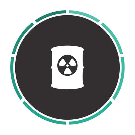 radioactive waste: Radioactive waste Simple flat white vector pictogram on black circle. Illustration icon