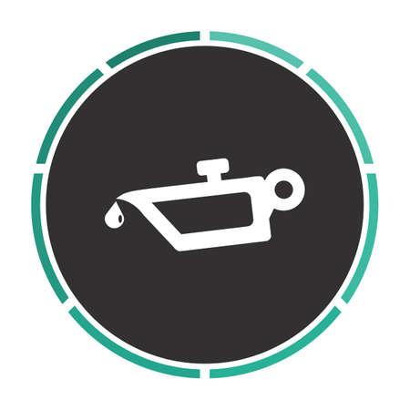 lube: lube oil Simple flat white vector pictogram on black circle. Illustration icon Illustration