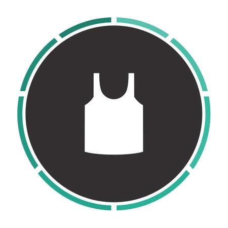 singlet: singlet Simple flat white vector pictogram on black circle. Illustration icon Illustration