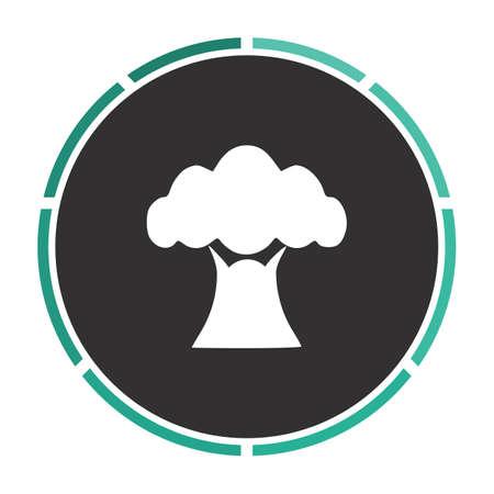 baobab: Baobab Simple flat white vector pictogram on black circle. Illustration icon