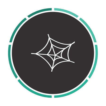 spiderweb: Spiderweb Simple flat white vector pictogram on black circle. Illustration icon Illustration