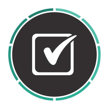 filling folder: Checklist Simple flat white vector pictogram on black circle. Illustration icon