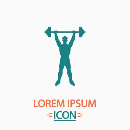 strongman: Strongman Flat icon on white background. Simple vector illustration Illustration