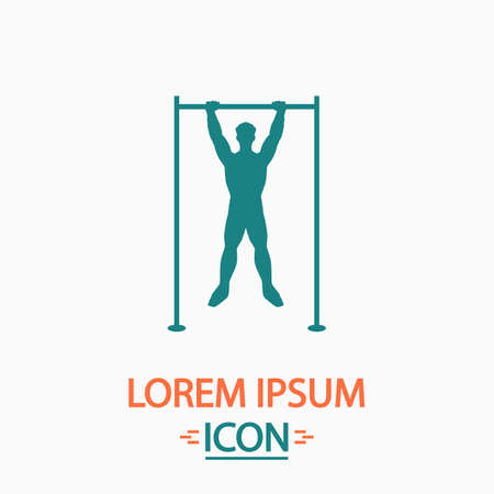 telamon: athlete Flat icon on white background. Simple vector illustration Illustration