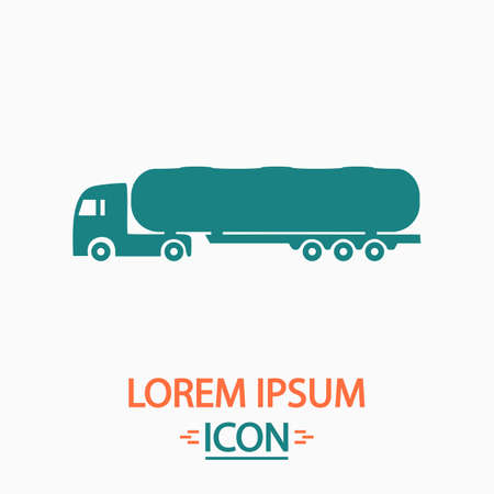 fuel truck: Fuel Truck Flat icon on white background. Simple vector illustration Illustration