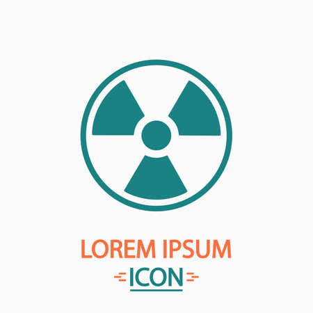 pollutant: Radiation Flat icon on white background. Simple vector illustration Illustration