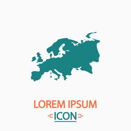eurasia: Eurasia Flat icon on white background. Simple vector illustration
