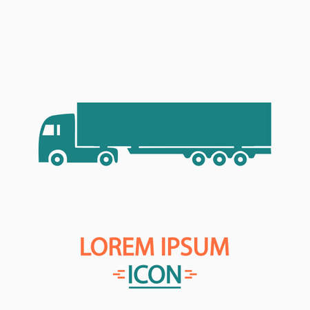big truck: Big Truck Flat icon on white background. Simple vector illustration Illustration