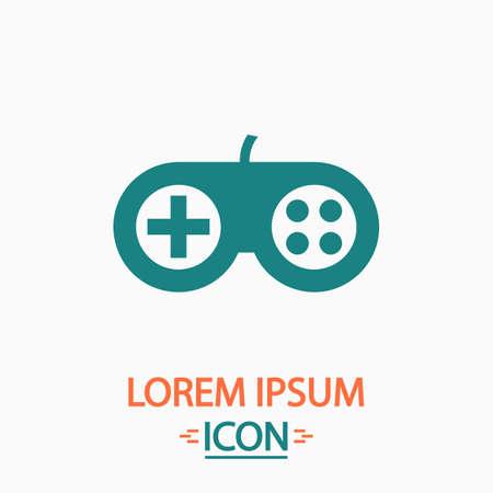 toys clipart: Joystick Flat icon on white background. Simple vector illustration Illustration