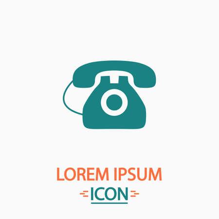 old telephone: old telephone Flat icon on white background. Simple vector illustration Illustration