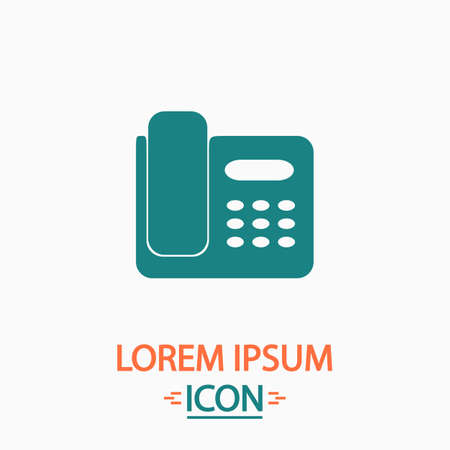parley: Office Phone Flat icon on white background. Simple vector illustration