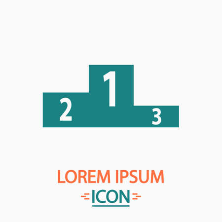 Podium Flat icon on white background. Simple vector illustration