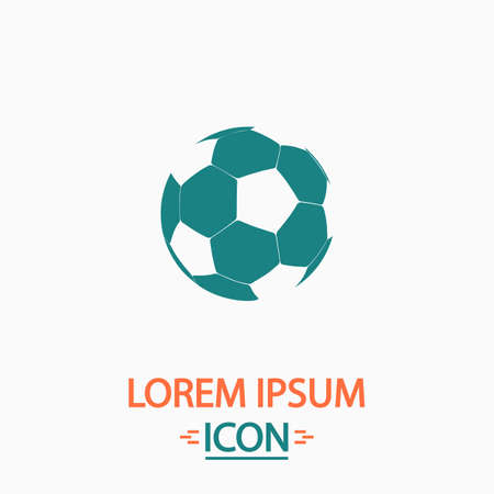 simplistic: Soccer ball Flat icon on white background. Simple vector illustration