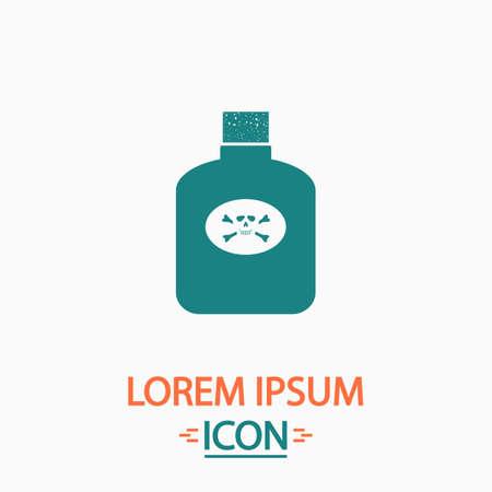 bane: Poison Flat icon on white background. Simple vector illustration