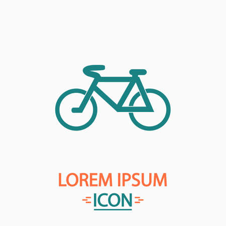 active content: Mountain bike Flat icon on white background. Simple vector illustration