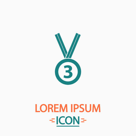 bronze medal: bronze medal Flat icon on white background. Simple vector illustration Illustration
