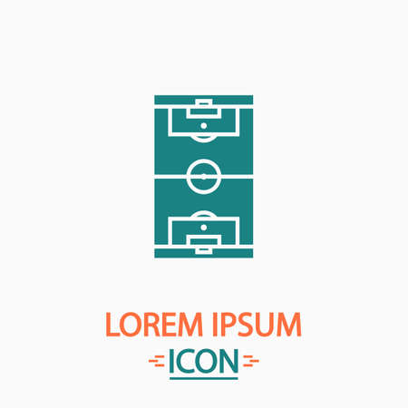 photo realism: football field Flat icon on white background. Simple vector illustration Illustration