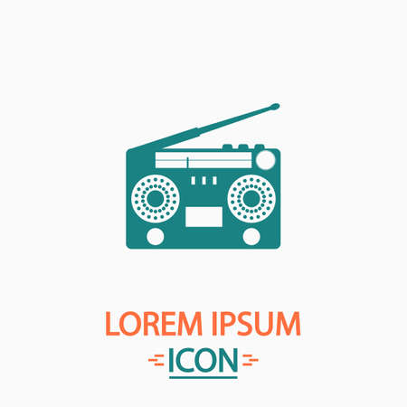 boombox: boombox Flat icon on white background. Simple vector illustration