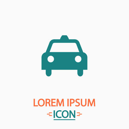 clipart street light: Taxi Flat icon on white background. Simple vector illustration Illustration
