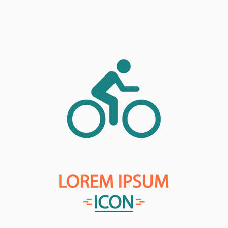vector cartoons: Cycling Flat icon on white background. Simple vector illustration