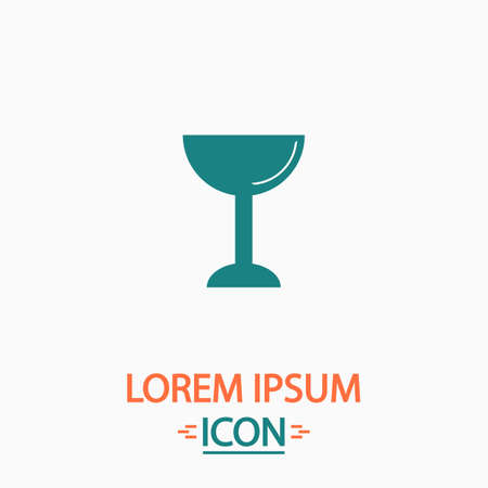 grail: chalice Flat icon on white background. Simple vector illustration