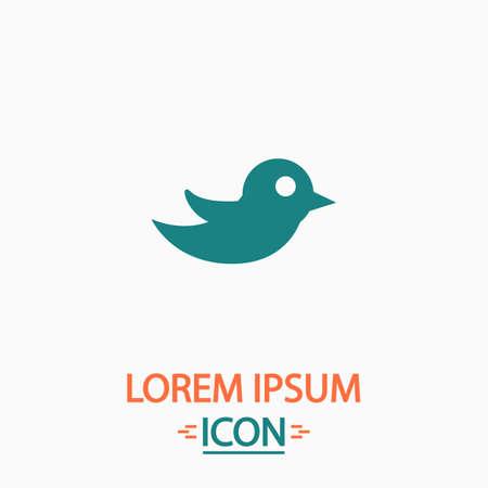 bird illustration: Bird Flat icon on white background. Simple vector illustration Illustration