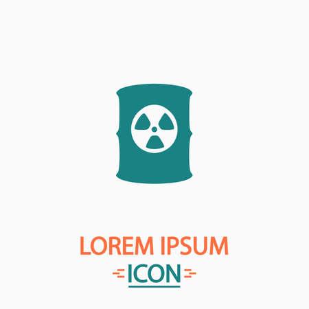 radioactive waste: Radioactive waste Flat icon on white background. Simple vector illustration