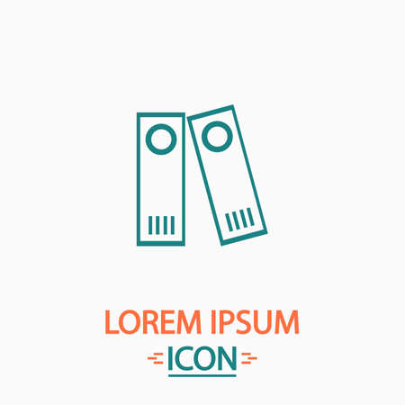 classify: Archive Folders Flat icon on white background. Simple vector illustration