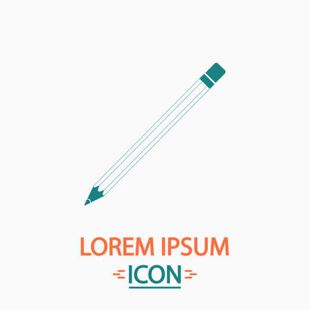 tip style design: Pencil Flat icon on white background. Simple vector illustration Illustration