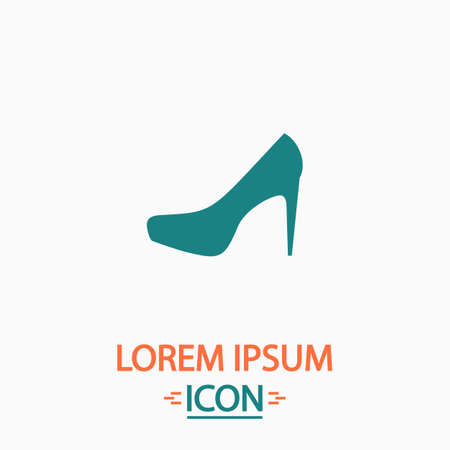 high heels: high heels Flat icon on white background. Simple vector illustration