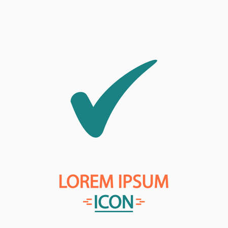 Confirm Flat icon on white background. Simple vector illustration