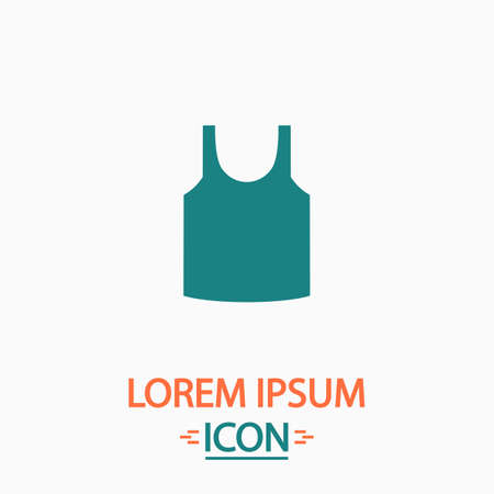 white singlet: singlet Flat icon on white background. Simple vector illustration