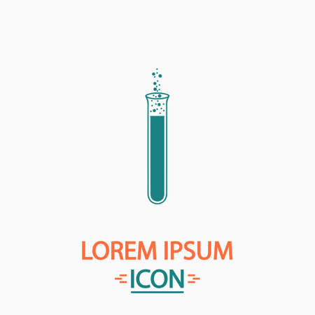 reaction: reaction Flat icon on white background. Simple vector illustration