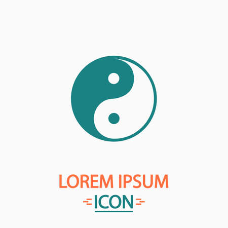 karma graphics: Ying-yang Flat icon on white background. Simple vector illustration