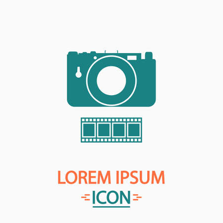 journalistic: Camera Flat icon on white background. Simple vector illustration Illustration