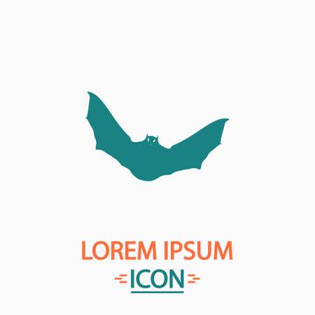 nocturne: Bat Flat icon on white background. Simple vector illustration Illustration